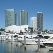 Marina in Downtown Miami, Florida USA - Stock Photo