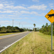 Sign warning of Florida panther habitat — Stock Photo