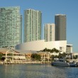 Bayside view of Downtown Miami, Florida USA — Stock Photo