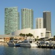 Bayside Marina in Downtown Miami — Stock Photo