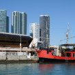 Stock Photo: Pirate ship at downtown Miami, Florida