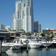 Miami Bayside Marina, Florida USA — Stock Photo