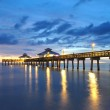 Pier at Sunset in Fort Myers, Florida — Stock Photo #6385392