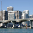 Downtown Miami with Biscayne Bridge in foreground, FloridUSA — Stock Photo #6385400