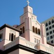 Gesu catholic Church from 1896, in Downtown Miami - Stock Photo