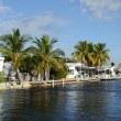 Stock Photo: Houses Waterside at Key Largo, Florida