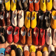 Colorful shoes for sale in Marrakech, Morocco - Stock Photo
