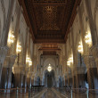 Inside of the Hassan II Mosque in Casablanca, Morocco - 图库照片