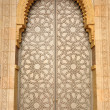 Door in Hassan II Mosque in Casablanca, Morocco — Stok fotoğraf