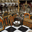 Souvenir shop in medinof Marrakech, Morocco — Stockfoto #6388827