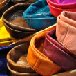 Colorful leather cushions — Stock Photo