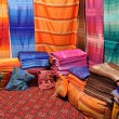 Stock Photo: Oriental fabrics and cushions