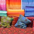 Stock Photo: Colorful fabrics for sale in Fes, Morocco