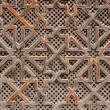 Wooden oriental decoration in Morocco — Stock Photo