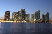 Downtown Miami at night — Stock Photo