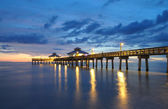 Fort Myers Pier at Sunset — Stock Photo