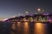 Bridge over the Biscayne Bay in Miami — Stock Photo