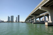 Bridge over the Biscayne Bay, Miami — Stock Photo