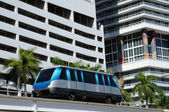 The fully automated Miami downtown train system — Stock Photo