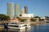Bayside Marina in Downtown Miami, Florida USA — Stock Photo