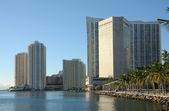 Bayside view of Downtown Miami — Stock Photo