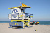 Lifeguard Tower at Miami South Beach — Stock Photo