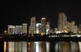Downtown Miami at night, Florida USA — Stock Photo