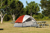 Tent on a campsite — Stock Photo