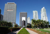 Downtown Miami from Bayfront Park, Florida — Stock Photo