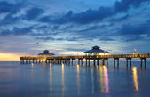 Pier at Sunset in Fort Myers, Florida — Stock Photo