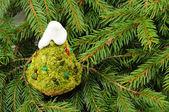 Fir Tree Shaped Cake for Christmas — Stock Photo