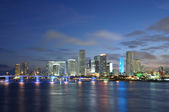 Downtown Miami at dusk, Florida USA — Stock Photo