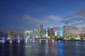 Downtown Miami at dusk, Florida USA — Stock Photo