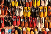 Colorful shoes for sale in Marrakech, Morocco — Stock Photo