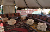 Inside of a traditional tent in Marrakech, Morocco — Stock Photo