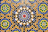 Colorful oriental pattern in Marrakech, Morocco — Stock Photo
