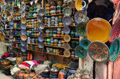 Colorful ceramics for sale in Marrakech, Morocco — Photo