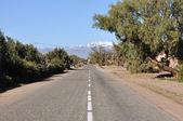 Landweg in marokko, afrika — Stockfoto