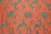 Oriental fabric in Morocco — Stock Photo