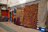 Carpets for sale in Essaouria, Morocco Africa — Stock Photo