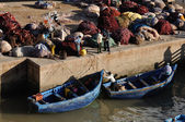 Fishermen in the old port of Essaouria, Morocco — Foto Stock