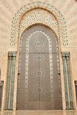 Door in Hassan II Mosque in Casablanca — Stock Photo