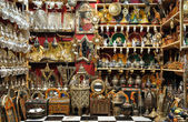 Souvenir shop in the medina of Marrakech — Stock Photo