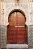 Decorated door in the medina of Fes, Morocco — Stock Photo
