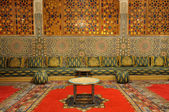 Oriental decorated lounge in Morocco — Stock fotografie