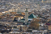 View of the Kairaouine Mosque from above, Fes Morocco — Stock Photo