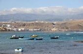 Rybářské lodě v las palmas de gran canaria, španělsko — Stock fotografie