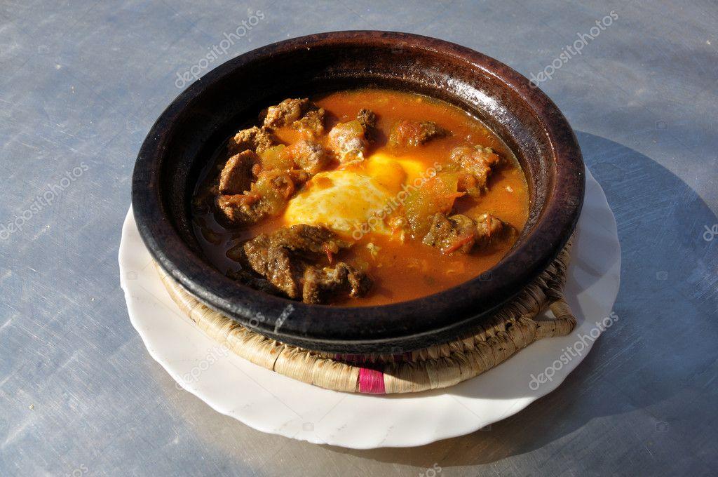 传统的摩洛哥菜-tajine