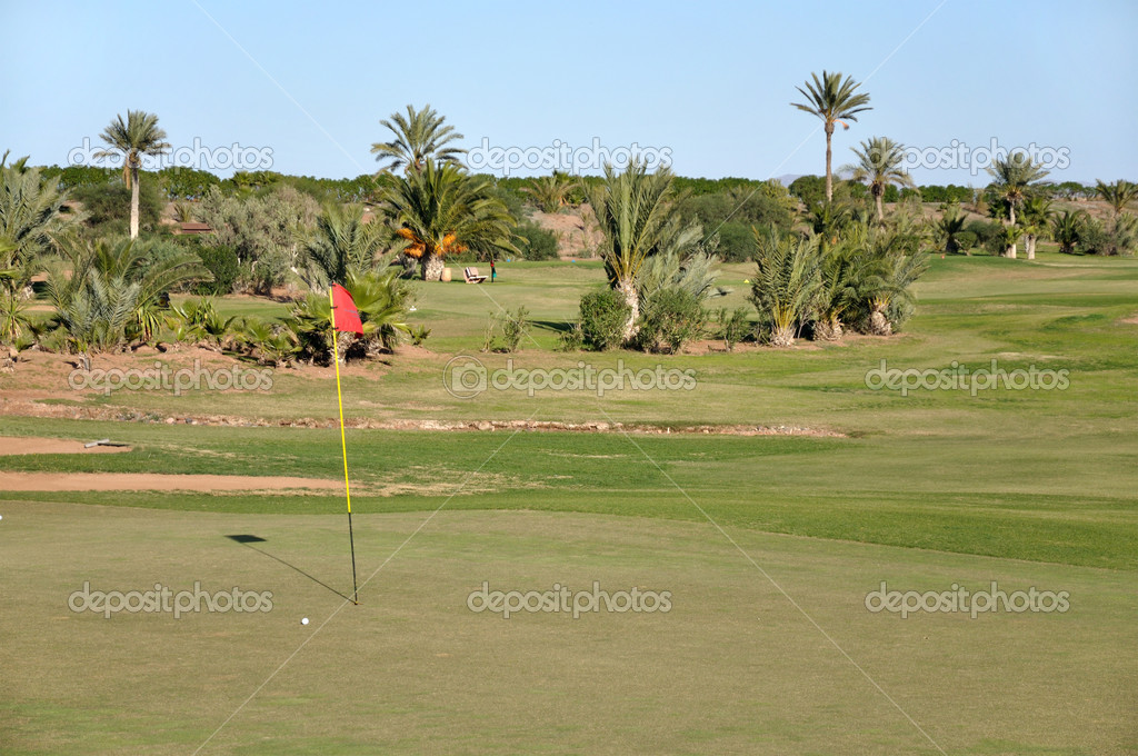 Golf course in Morocco — Stock Photo #6386904