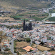 Aerial view over Arucas, Grand Canary - Stock Photo
